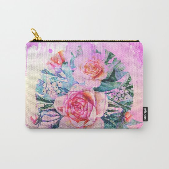 bouquet and watercolors Carry-All Pouch