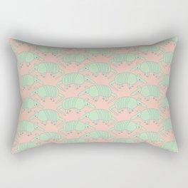 Armadillos All Around Rectangular Pillow