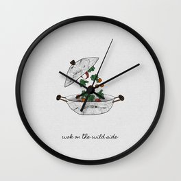 Wok On The Wild Side, Music Quote Wall Clock