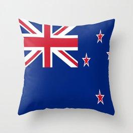 Flag of new zealand 3 -zealand,New Zealander,Kiwi,wellington,Auckland. Throw Pillow