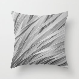 Agave Abstract Black & White by Murray Bolesta! Throw Pillow