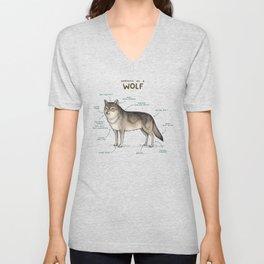 Anatomy of a Wolf Unisex V-Neck