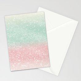 Pastel Summer Glitter #1 (Faux Glitter - Photography) #shiny #decor #art #society6 Stationery Cards