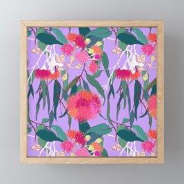 Australian Gumnut Eucalyptus Floral in Lilac Orchid Framed Mini Art Print