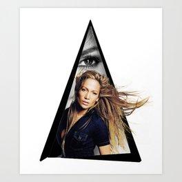 Youtriangle ∆ JenniferLopez Art Print