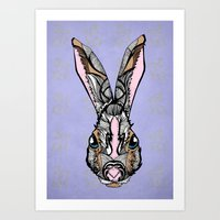 rabbit Art Prints featuring Rabbit by SilviaGancheva