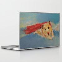 hamster Laptop & iPad Skins featuring Hamster Superhero by Michael Creese