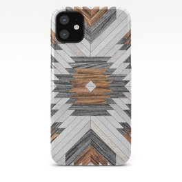 Urban Tribal Pattern No.8 - Aztec - Wood iPhone Case