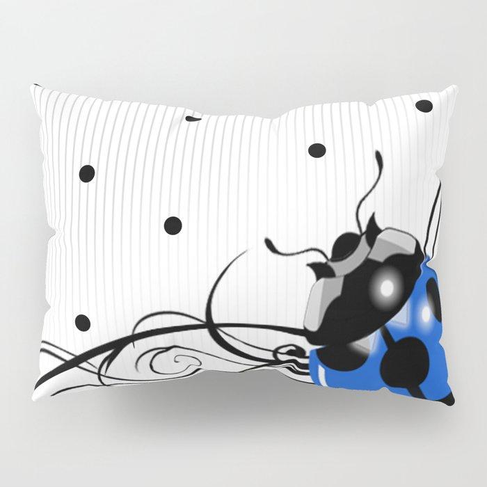 FANCY LADYBUG | blue Pillow Sham