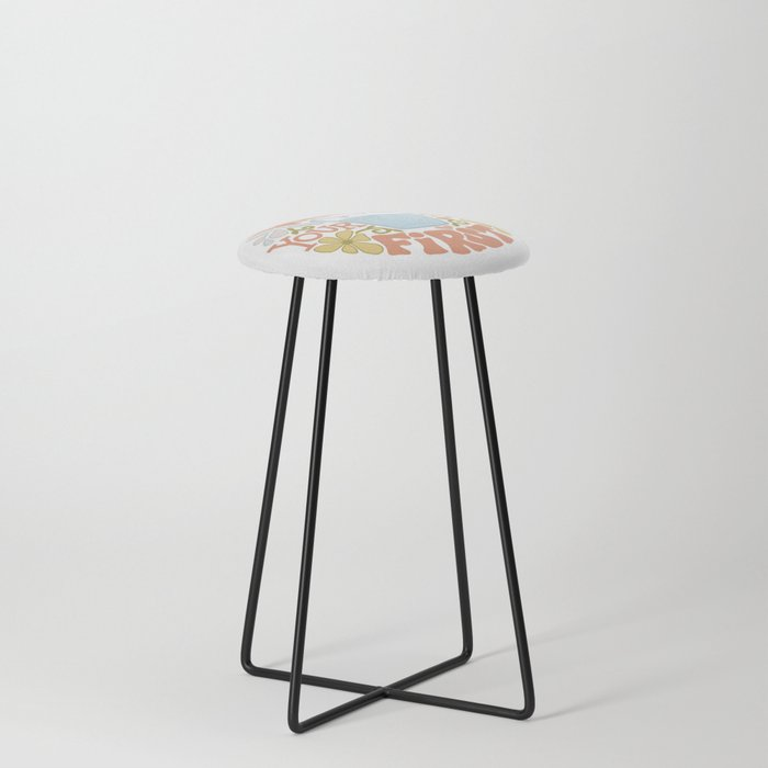 Water Yourself First Counter Stool