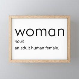 Woman (Definition) Framed Mini Art Print