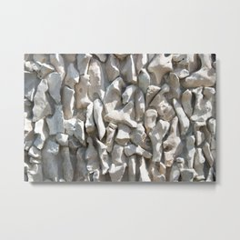 Weathered wall made of stones and cement Metal Print