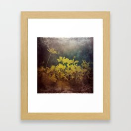 Abstract Yellow Daisies Framed Art Print