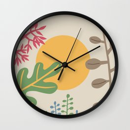 Ibiza flowers 33 Wall Clock