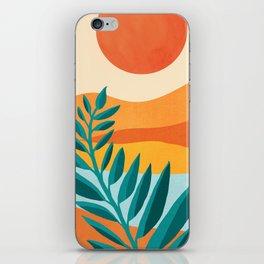 Mountain Sunset / Abstract Landscape Illustration iPhone Skin