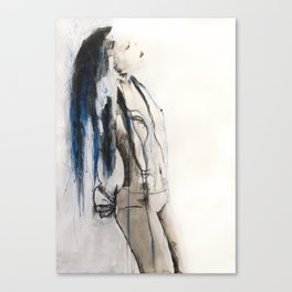 True to her creed, she did not attempt to interfere Canvas Print