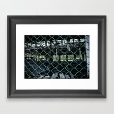 Building 9, chained Framed Art Print