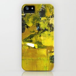 Waiter Yellow Abstract Modern Art Painting iPhone Case