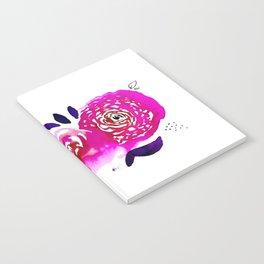 Three Purple Christchurch Roses Notebook