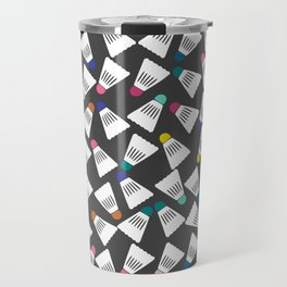 Cute Badminton Pattern Travel Mug