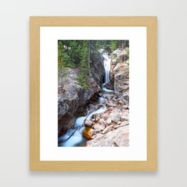 Chasm Falls, Rocky Mountain National Park Framed Art Print