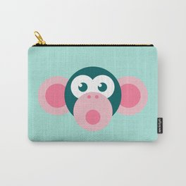"""""""Oops!"""" Stylized Monkey - Zoo series Carry-All Pouch"""