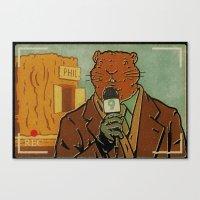 phil jones Canvas Prints featuring Punxsutawney Phil by Derek Eads
