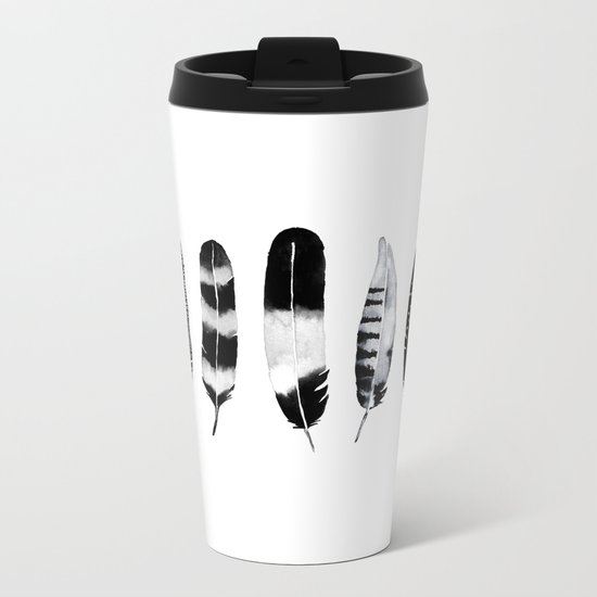 Feather Tribe Metal Travel Mug