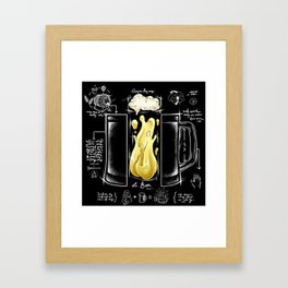 Le Beer - Giver of Life | Alcohol, Craft & Humor Framed Art Print
