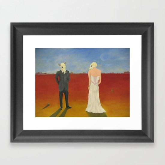 The Odd Wedding Framed Art Print