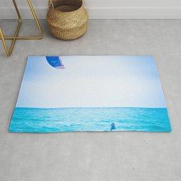 Kite surf blue Rug