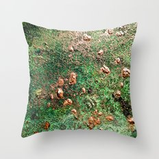 Copper Nuggets Throw Pillow