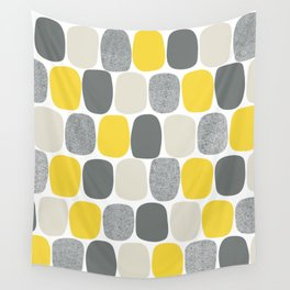 Wonky Ovals in Yellow Wall Tapestry