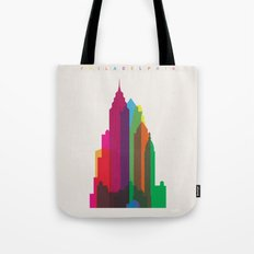 Shapes of Philadelphia accurate to scale Tote Bag