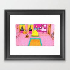 The Royal Tenenbaums Tent. Framed Art Print