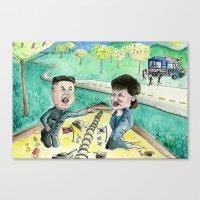 korean Canvas Prints featuring Korean Sandbox  by Kyle McDonald