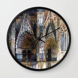 Koln cathedral's facade Wall Clock