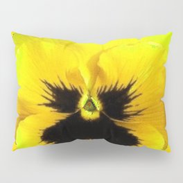 LARGE YELLOW  PANSY ON GOLDEN YELLOW COLOR Pillow Sham