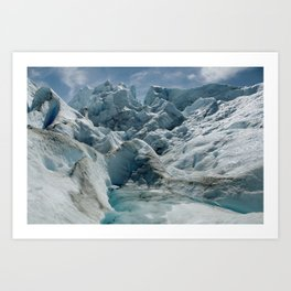 Glaciar Petiro Moreno Art Print