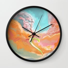 Fantasy Dragon and Clouds Wall Clock