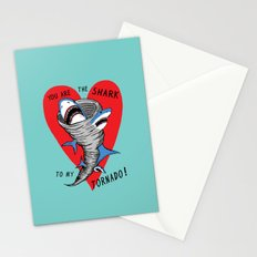 Shark To My Tornado Stationery Cards