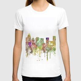 Charlotte, North Carolina Skyline SG - Faded Glory T-shirt