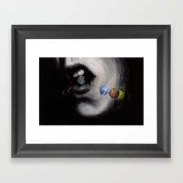 Candy Planets Framed Art Print