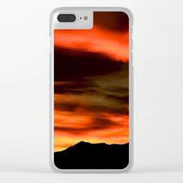 SW Orange Mountain Sunrise - II Clear iPhone Case