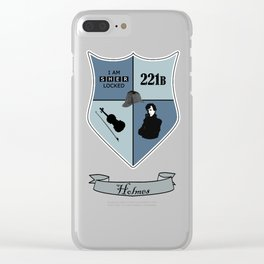 Sherlock Coat of Arms Clear iPhone Case