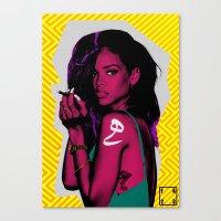 rihanna Canvas Prints featuring RIHANNA by FA 23