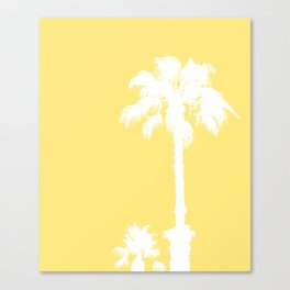 Palm Silhouettes On Yellow Canvas Print