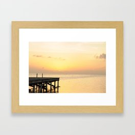 Sunset's in Belize Framed Art Print