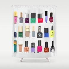 My nail polish collection art print Shower Curtain