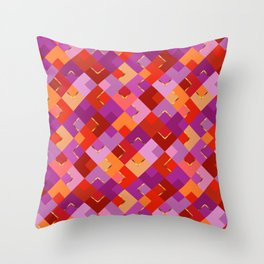 Poppy Colors for Fun Throw Pillow